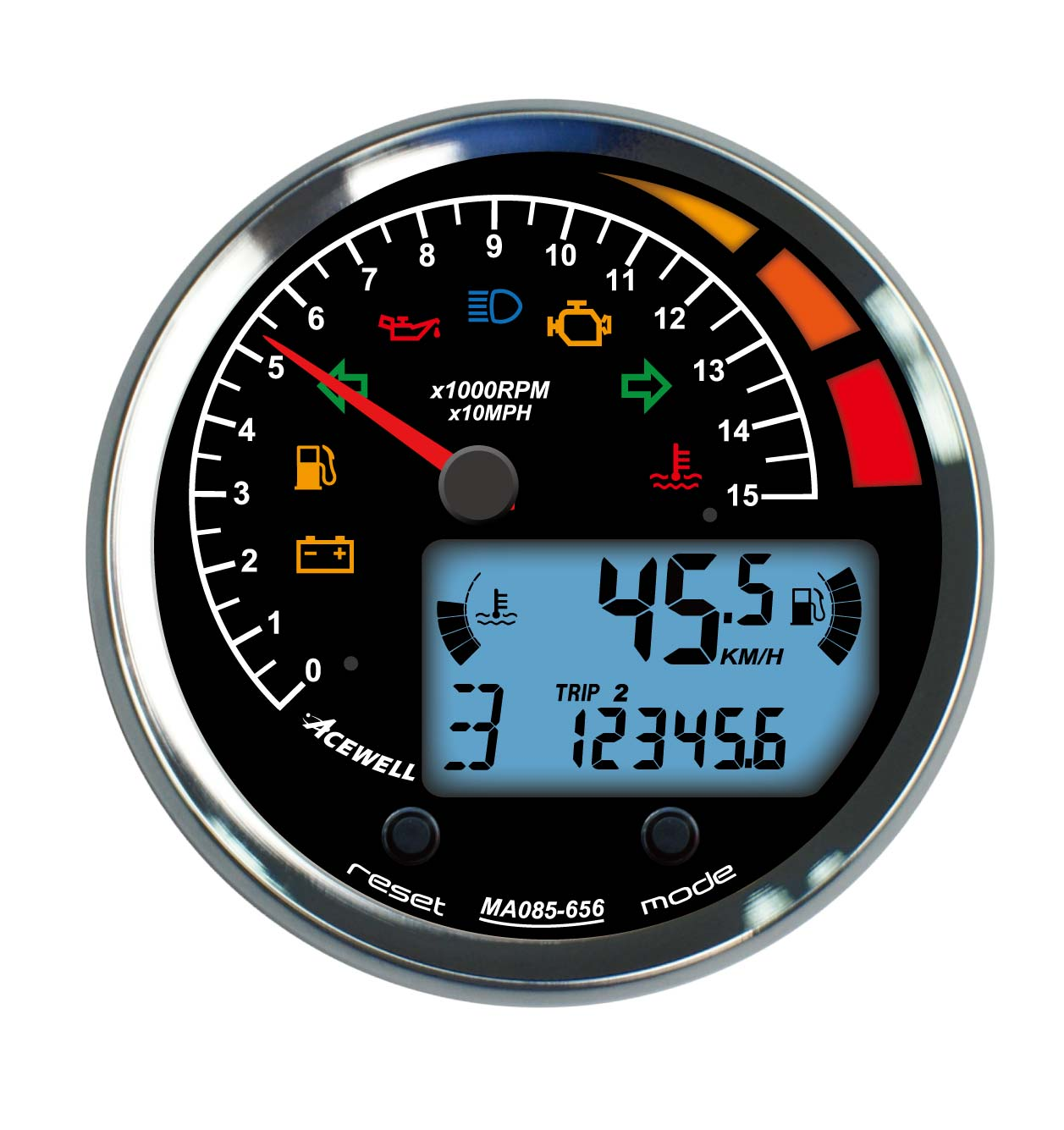 Acewell - Acewell Speedometers - ACE-85mm - MA85 85mm diameter ...